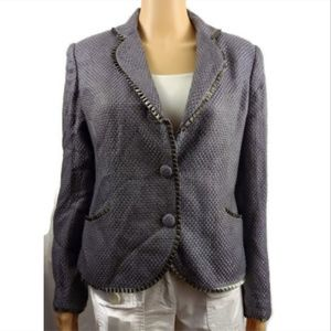 Oscar  lavender tweed blazer cropped jacket
